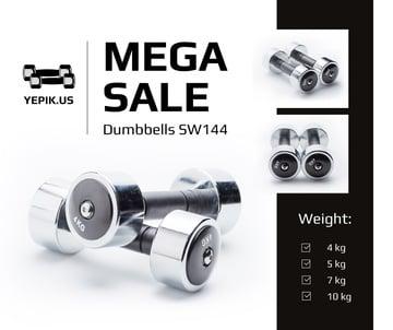 Gym equipment sale Dumbbells