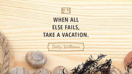 Ontwerpsjabloon van Title van Travel inspiration with Shells on wooden background