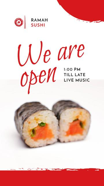 Sushi Menu Fresh Seafood Maki Instagram Video Story – шаблон для дизайна