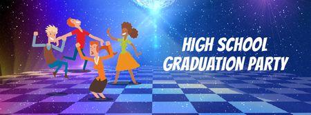 Plantilla de diseño de People dancing at highschool party Facebook Video cover