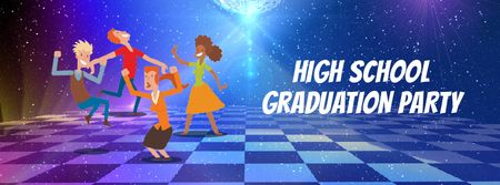 People dancing at highschool party Facebook Video cover Modelo de Design