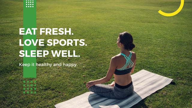 Citation about Healthy lifestyle Presentation Wide – шаблон для дизайну