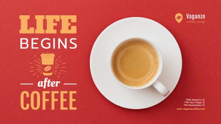 Template di design Cup of Coffee on Red table Full HD video
