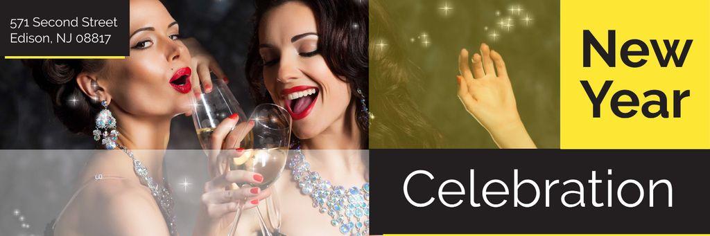 New Year celebration Twitter – шаблон для дизайна