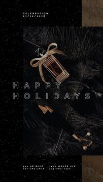 Holidays Greeting Shiny Party Accessories | Vertical Video Template