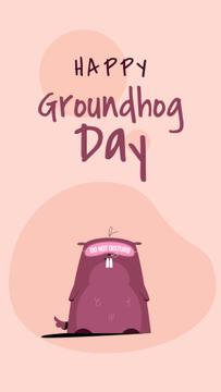 Happy Groundhog Day Cute Funny Groundhog