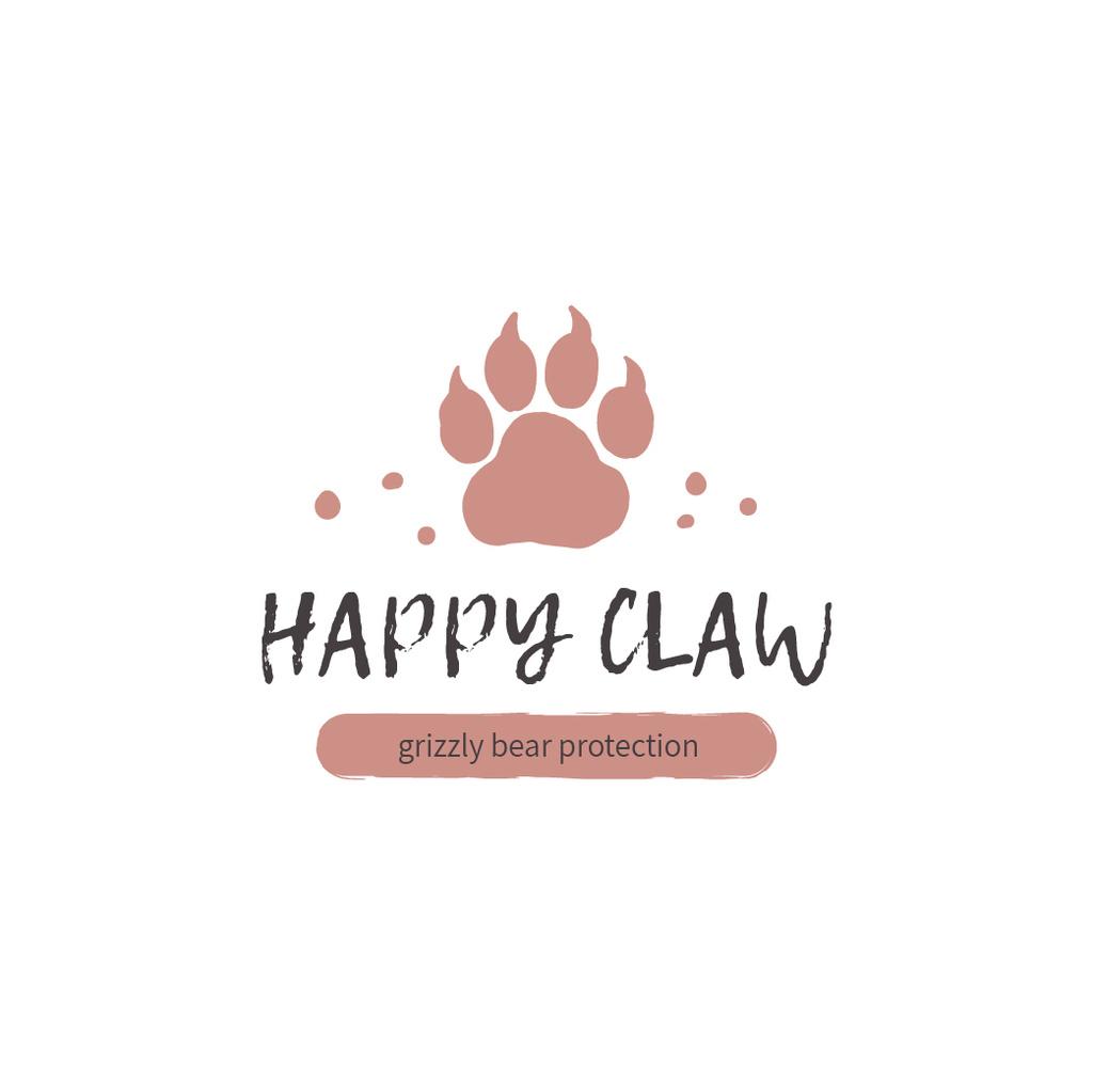 Fauna Protection with Bear Paw Print — Crear un diseño