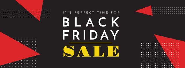 Plantilla de diseño de Black Friday sale on geometric pattern Facebook cover