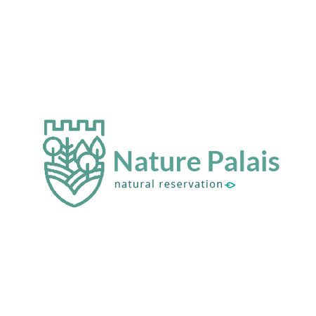 Natural Reservation with Forest and Mountains Animated Logo Tasarım Şablonu