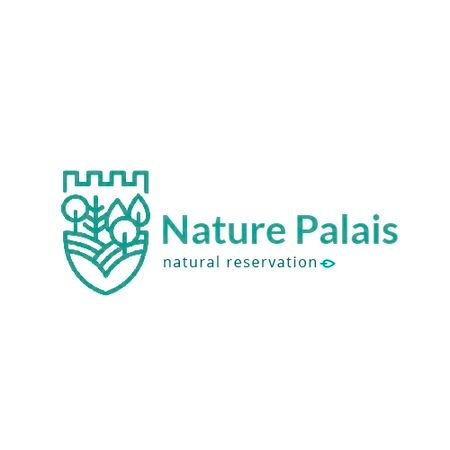 Natural Reservation with Forest and Mountains Animated Logo Modelo de Design