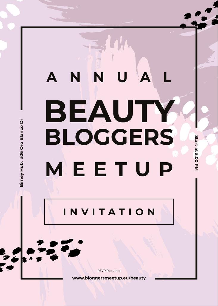 Beauty Blogger meetup on paint smudges — Modelo de projeto