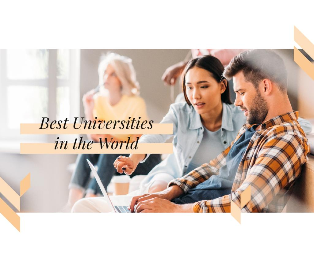 Best Universities Students Studying Together —デザインを作成する