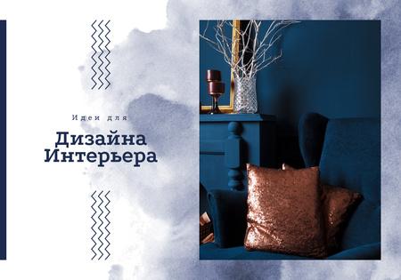 Modèle de visuel Vintage Styled Interior in Blue - VK Universal Post