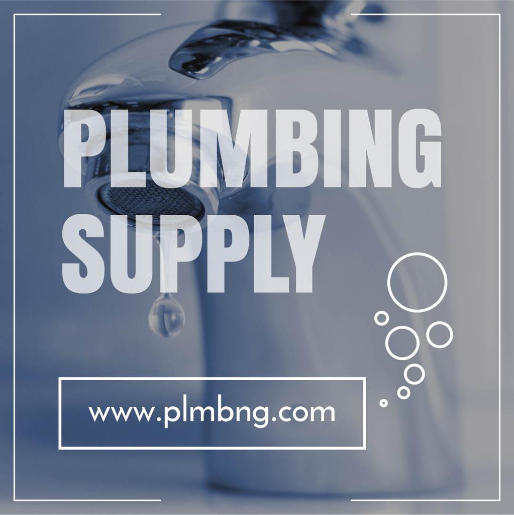 Plumbing Services Ad Leaking Tap in Blue | Instagram Post Template — Створити дизайн