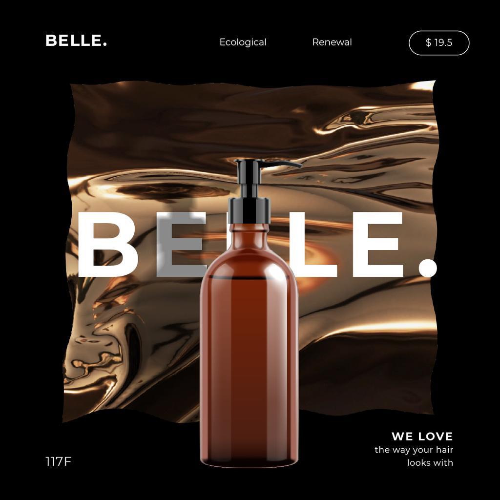 Shampoo bottle in swiriling frame — Crea un design