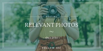 Photo Blog Ad with Woman with Vintage Camera