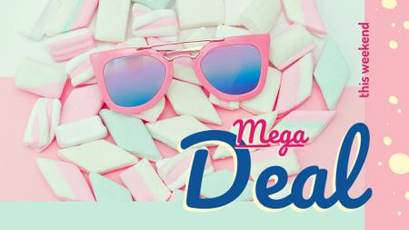 Ontwerpsjabloon van FB event cover van Stylish pink Sunglasses on marshmallows
