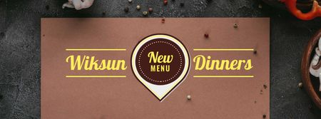 Menu Offer with Condiments Facebook cover Modelo de Design