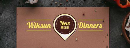 Plantilla de diseño de Menu Offer with Condiments Facebook cover