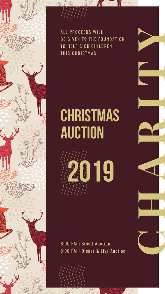 Christmas pattern with deer — Crear un diseño