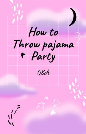 Ontwerpsjabloon van IGTV Cover van Pajama Party dreamy pattern