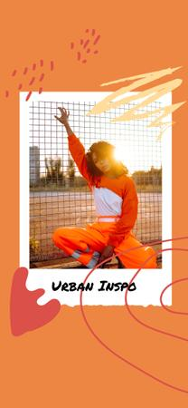 Ontwerpsjabloon van Snapchat Moment Filter van Fashion Ad with Stylish Woman in city