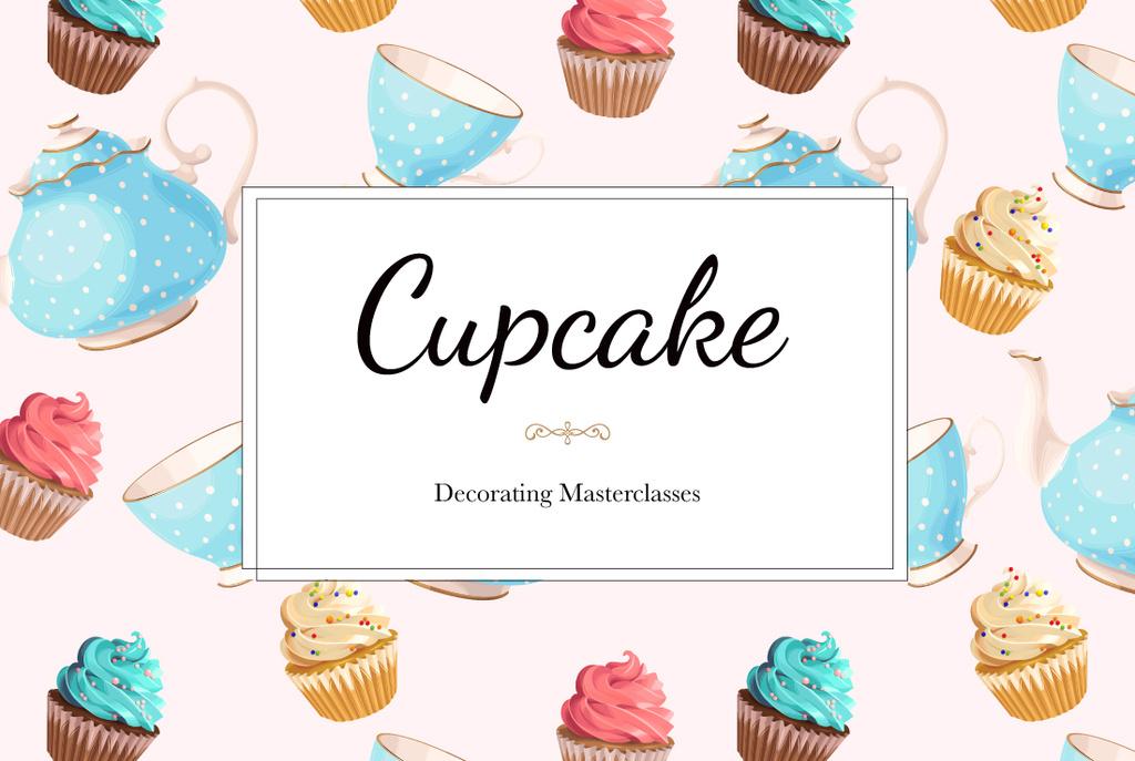 cupcakes decorating masterclasses poster — Create a Design