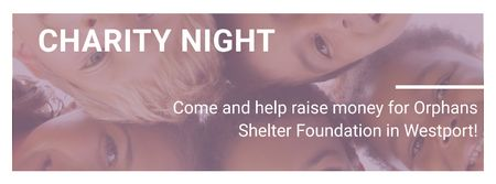 Corporate Charity Night Facebook cover Modelo de Design