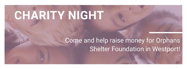 Template di design Corporate Charity Night Facebook cover
