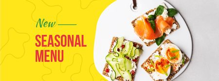 Assorted delicious Toasts menu Facebook coverデザインテンプレート