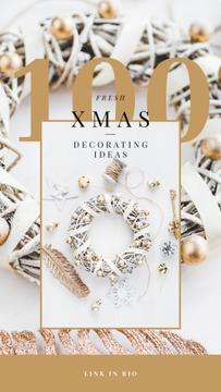 Decorating Ideas with Shiny Christmas wreath