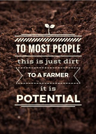 Plantilla de diseño de Farming quote on farm field Soil Flayer