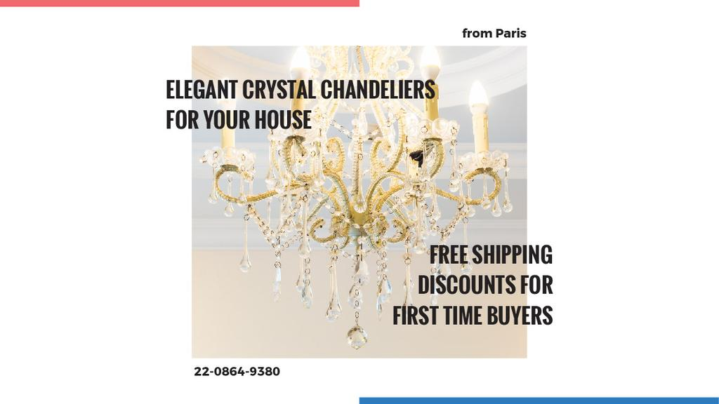 Elegant crystal chandeliers shop — Створити дизайн