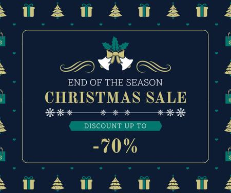 Merry Christmas tree and gifts sale Facebook – шаблон для дизайна