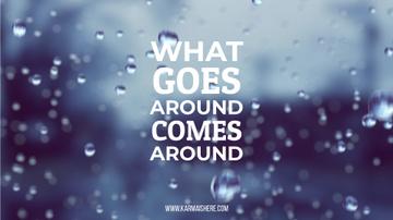 Inspiration Quote Rain Drops Falling down