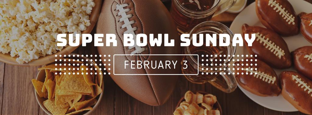 Super bowl Sunday Annoucement with cookies — Crea un design
