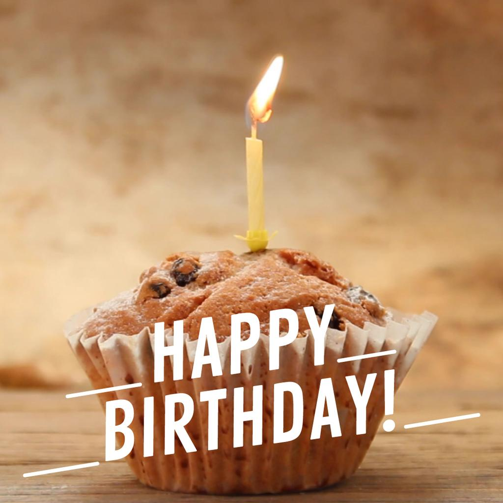 Birthday candle on muffin — Crear un diseño