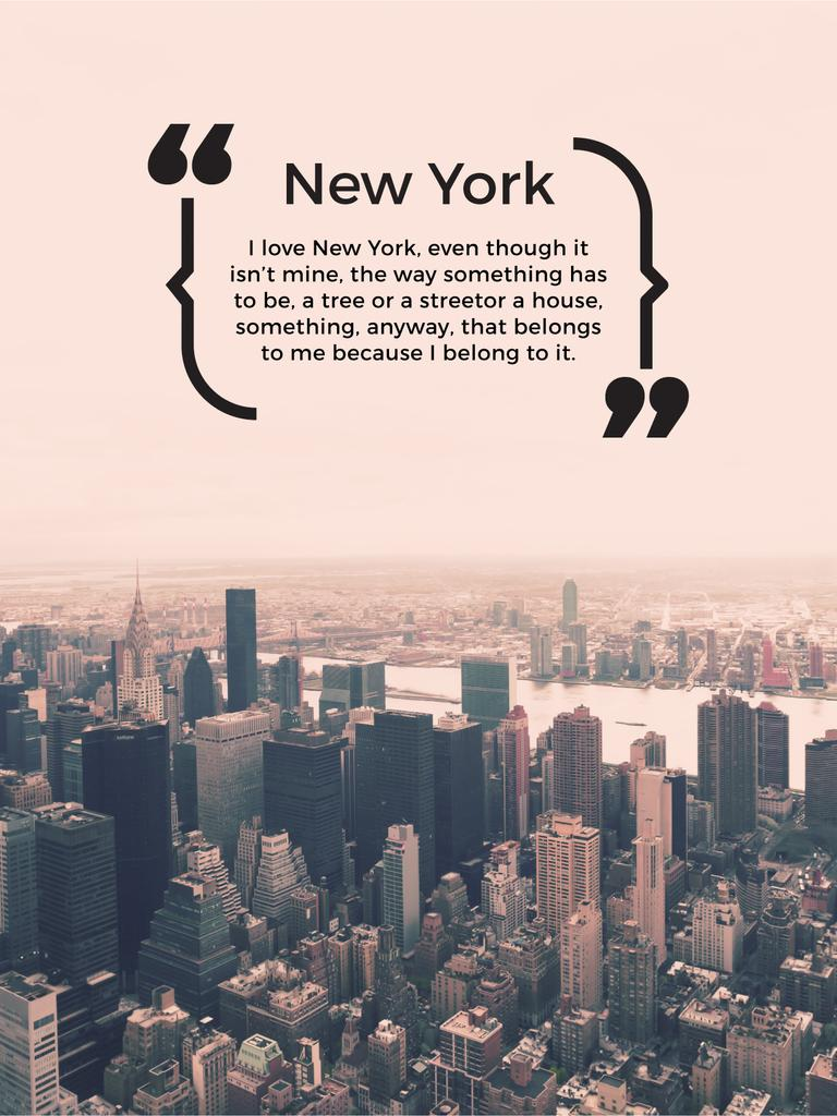 New York Inspirational Quote on City View — Створити дизайн