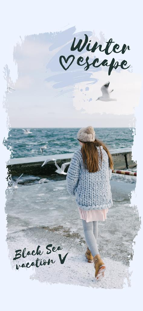 Girl in Chunky Sweater by the Sea —デザインを作成する