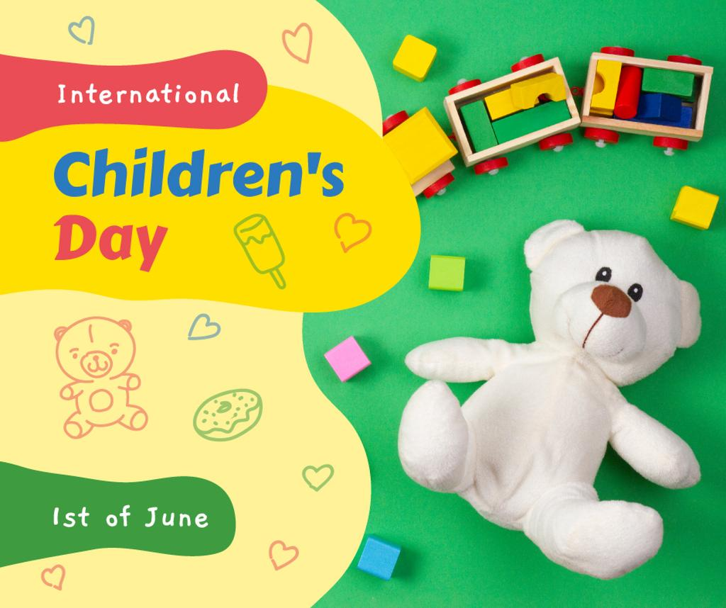 Kids toys and constructor for Children's Day — Create a Design