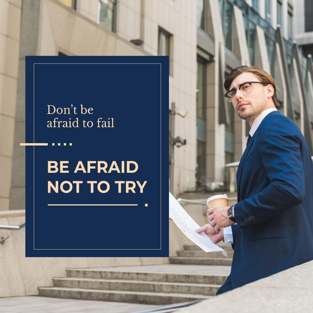 Be afraid not to try — Crear un diseño