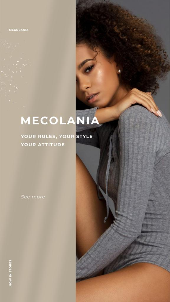 Fashion Offer with Young Attractive Woman — Crear un diseño