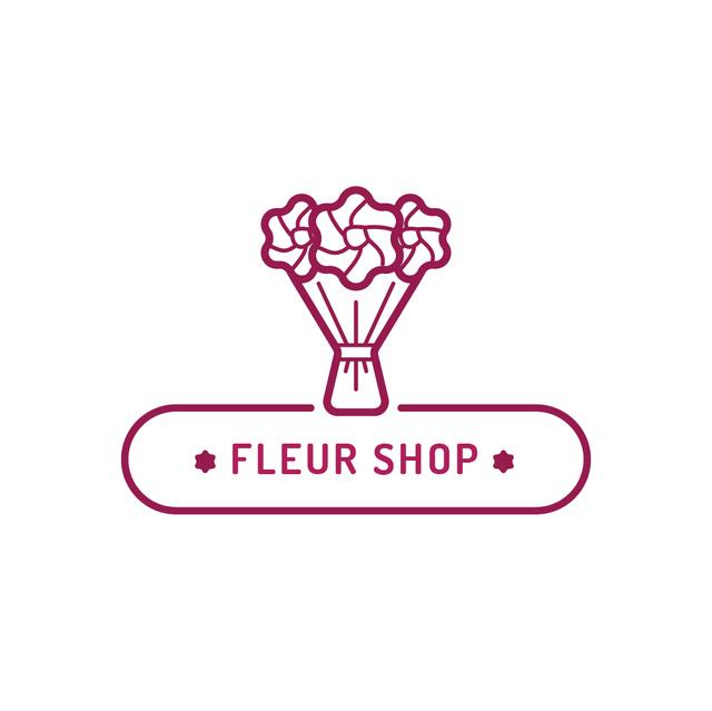 Ontwerpsjabloon van Logo van Floral Services Ad with Beautiful Bouquet