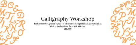Calligraphy workshop Annoucement Email header Modelo de Design