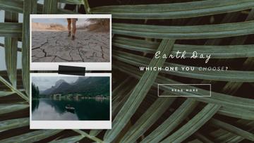 Snapshots with desert and scenic lake