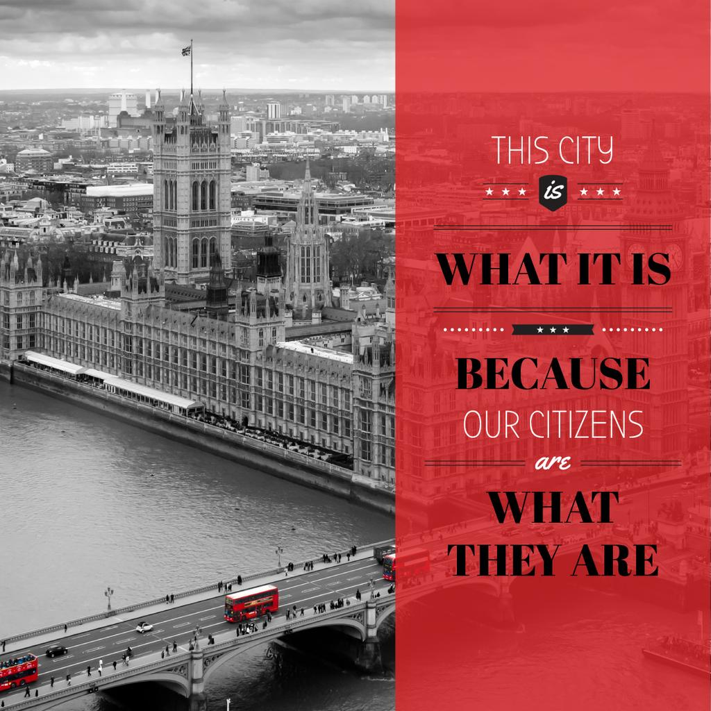 City quote with London view — Создать дизайн