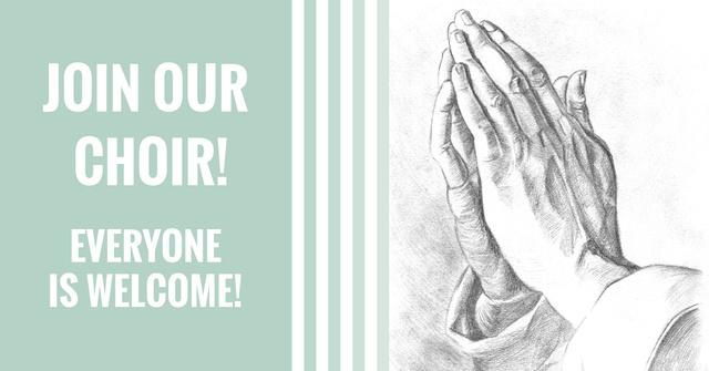 Invitation to a Religious Choir Facebook AD – шаблон для дизайну