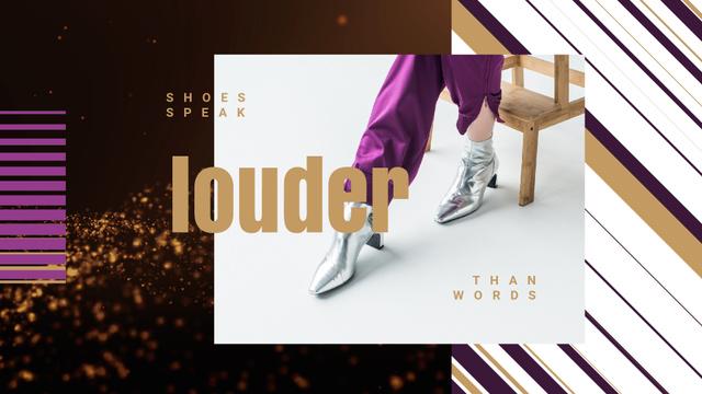 Designvorlage Female Legs in Silver Boots für Full HD video