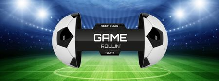 Football Match announcement on Stadium Facebook cover Modelo de Design