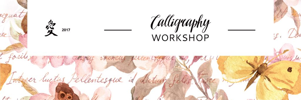 Calligraphy workshop Annoucement —デザインを作成する